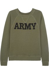 Nlst Army Cotton Terry Sweatshirt Green