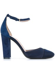 Tory Burch Ckunky Heel Pumps Blue