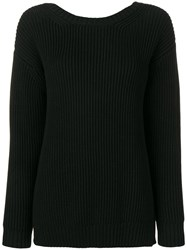 Chinti And Parker Ribbed Jumper Black