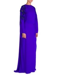 Emilio Pucci Embroidered Caftan Gown Purple