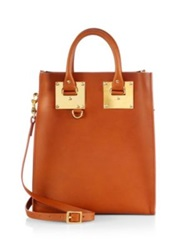 Sophie Hulme Mini Structured Tote Oat Tan Black