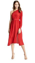 Edition10 One Shoulder Dress Tomato