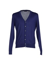 Ballantyne Knitwear Cardigans Men Dark Purple