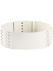 Lanvin Wide Waist Belt White