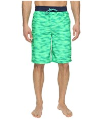 Nike Flux 11 Volley Shorts Electro Green Men's Swimwear Black