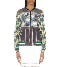 Clover Canyon Floral Print Bomber Jacket Yellow