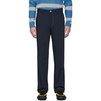 Sunnei Navy Straight Trousers