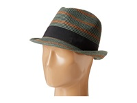 Scotch And Soda Retro Striped Straw Hat Green Caps