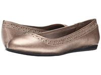 Lifestride Native Champagne Women's Dress Flat Shoes Gold