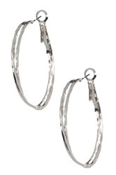 14Th And Union 40Mm Double Textured Hoop Earrings Metallic