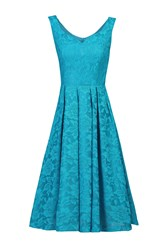 Jolie Moi Lace Bonded Sweetheart Neck Dress Teal