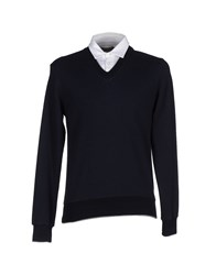 Eleventy Topwear Sweatshirts Men Dark Blue