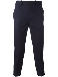 Neil Barrett Tailored Cropped Trousers Blue