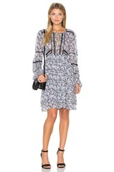 Marissa Webb Bella Print Mini Dress Gray