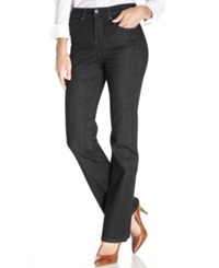 Styleandco. Style And Co. Tummy Control Bootcut Jeans Black Wash Black Tint