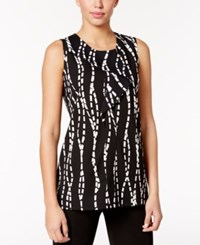 Alfani Printed Ruffled Top Only At Macy's Square Vines Black