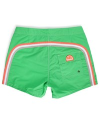 Sundek Green Striped Swim Shorts