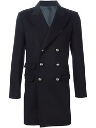 Ermanno Scervino Double Breasted Military Coat Black