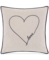 Ed Ellen Degeneres Jaspe Love Square Decorative Pillow Bedding Medium Beige