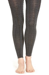 Lemon Women's 'Tweedy Pie' Cable Knit Leggings Peppercorn
