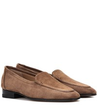 The Row Adam Suede Moccasins Brown