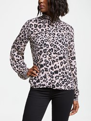 Lily And Lionel Harlowe Leopard Print Blouse Isla Nude