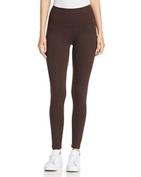 Lysse Seamed Ponte Leggings Heather Brown