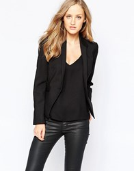 French Connection Glass Fitted Blazer In Black Black