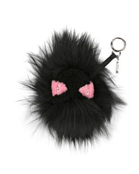 Fendi Monster Mixed Fur Charm For Handbag Black Pink Black Pink