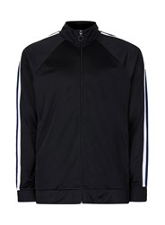 Topman Black Panelled Sleeve Track Top