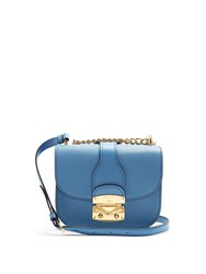 Miu Miu Chain Strap Leather Cross Body Bag Light Blue
