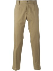 Dolce And Gabbana Classic Chinos Nude And Neutrals