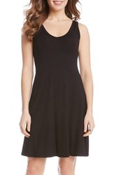 Women's Karen Kane 'Brigitte' Double V Neck Jersey Dress Black
