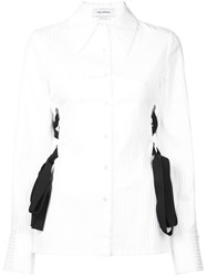 Yigal Azrouel Lace Detail Button Up Blouse White