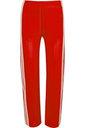 Etoile Isabel Marant Dobbs Striped Jersey Track Pants Red