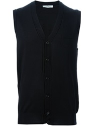 Paolo Pecora Sleeveless Cardigan Black
