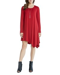 Karen Kane Asymmetric Ellie Swing Dress Red