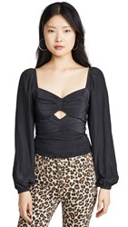 Ramy Brook Eliana Blouse Black