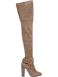 Giuseppe Zanotti 105Mm Stretch Suede Over The Knee Boots
