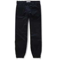 Givenchy Tapered Cotton Corduroy Trousers Navy