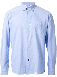 Bedwin And The Heartbreakers Spotted Button Down Shirt Blue