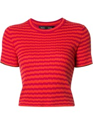 Proenza Schouler Striped Knit Top Pink Purple