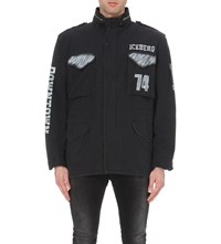 Iceberg Ice Army Jacket W Spray Paint Black