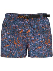 Nike Printed Running Shorts Blue