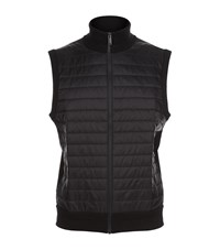 Michael Kors Quilted Zip Up Gilet Male Black