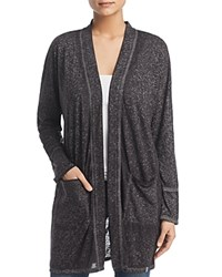 Marc New York Performance Burnout Long Open Cardigan Gray
