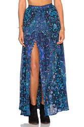 Spell And The Gypsy Collective Kiss The Sky Maxi Skirt Blue
