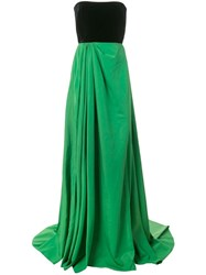 Alex Perry Dalton Strapless Gown Green