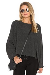 Inhabit Crop Crew Neck Sweater Charcoal