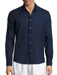 Vilebrequin Solid Long Sleeve Shirt Navy